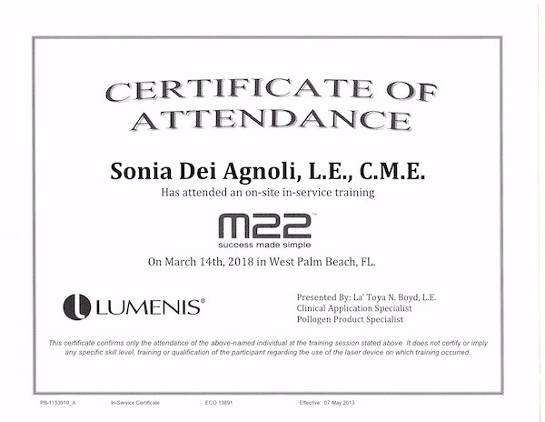 Sonia dei Agnoli laser hair removal coconut creek fl