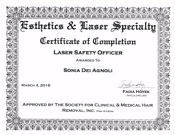 laser specialty certification